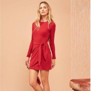 NWT Reformation Calli Red Dress Sz. M